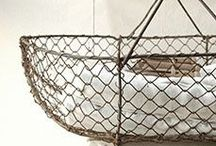 Basketry..... / containers made of twig, wire, rushes, strips of wood, woven together.