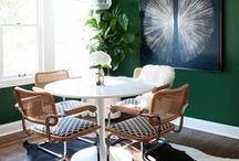 Spaces | Dining Room / Ideas and inspiration for your dining room - a place to share with friends and family and your favourite foods!