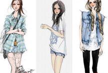 Woman fashion / #Season #design #panel