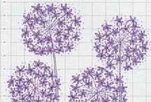 Vyšívanie - kvety, ovocie x