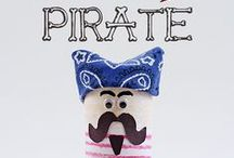 A Pirate's Life for Me / The Funkins pirate collection is suitable for kids' lunches and meals-on-the-go all year, but what parent or grandparent can resist the Pirate's Life for Me collection every Sept. 19 -- International Talk Like a Pirate day! Hardee har haarrrrrrrr! (Don't forget to change your Facebook settings on the day to Pirate! It's tons of FUN!)