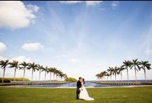 Ceremonies at Deering Estate / Ceremonies are usually taken place on the Front Lawn by the water. If it rains, a back up plan is to have the ceremony in our Stone House Ballroom