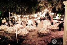 Lighting at Deering Estate / The Courtyard is the perfect place to create the wedding of dreams with beautiful uplights, chandeliers, and airstar ballons.