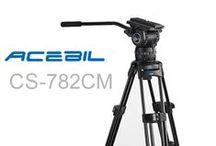 Acebil Professional CS Series Tripod Systems / Acebil's extensive line of professional CS Series tripod systems.