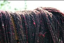 Black Hand Spun Yarn