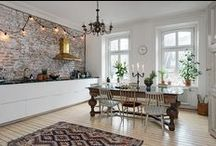 Kitchen/Dining Scandinavian interior design / Inspiration for Scandinavian interior design mostly from Swedish real estate websites