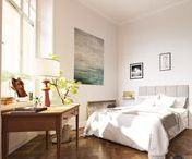 Bedroom Scandinavian interior design / Inspiration for Scandinavian interior design mostly from Swedish real estate websites