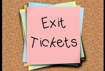 Exit Ticket Extravaganza / We love exit tickets, exit slips and warm up work! A great tool for quickly assessing student comprehension. Pins related to their awesomeness...