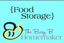Food Storage (+Some non-food storage items) / Learn how to get started with food storage, how to build your supplies, tips for safe food storage, and organizing solutions.