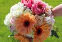 Coral & Melon Wedding Flowers