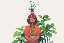 art (food and plants)