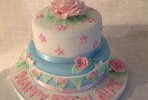Celebration cakes (mine)