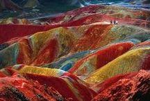 Цветные горы Китая ( Danxia Landform )
