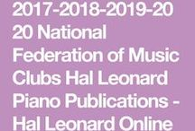 National Federation of Music Clubs Piano / Festival List for Piano