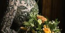 Emerald City - Style Shoot  Inspiration / Use dark green and rich emerald green throughout your wedding day.