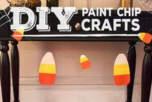 Halloween Paint Chip DIY Crafts / Fall/Halloween Crafts