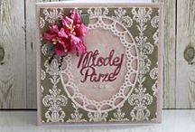Karta na ślub - ręcznie wykonana / Karty z życzeniami na ślub ręcznie wykonane przez Dorotę Jarosińską.