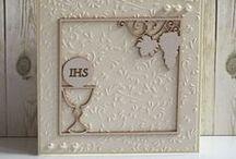 Kartka na Komunię - ręcznie wykonana / Oryginalne, ręcznie wykonane karty - pamiątki I Komunii.