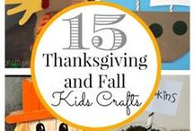 Fall and Thanksgiving / Festive, fun, and creative craft ideas to do with the kids (and adults, too!)
