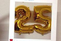 Photocall 25th birthday / Photocall instagram para un veinticinco cumpleaños. Diseño y producción: Bodas con i-lusion