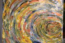 Peintures abstraites, / Mes toiles, ma détente..mes inspirations