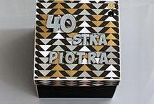 """Exploding box - na różne okazje / Exploding box / pudełka """"explodujące"""" na różne okazje - urodziny dziecka, jubileusze, urodziny, rocznice. Wykonanie - Dorota Jarosińska."""