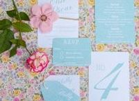 Wedding stationery Ranges { Blush } / Blush and Mint style wedding stationery, incl invites rsvp with handmade tissue flower