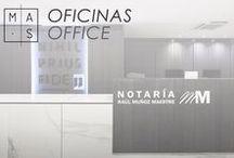 MAS · Oficinas / Una recopilación fotográfica de nuestros proyectos de interiorismo para oficinas. Nuestro objetivo es que el espacio de trabajo refleje la identidad de la firma y fomente la productividad de sus empleados.