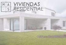 MAS · Viviendas / Una galería de nuestros proyectos para viviendas. ¿Nuestra meta? Colaborar con nuestros clientes en la creación de sus hogares.