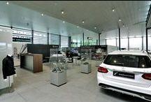 DSG @ Mercedes Benz Svizzera / Il #gres porcellanato incontra i motori in uno store #MercedesBenz in Svizzera.
