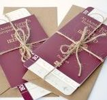 {Travel- wedding passport}- Wedding Stationery Ranges / Getting married abroad, or having a travel themed wedding, use these wedding passport invitations and rsvp boarding passes to make sure your guests join you