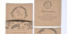 Rustic Woodland wedding stationery / Rustic woodland wedding stationery collection. with kraft card and woodland printed design. Full range of matching stationery available