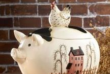 ♥ Cookie Jars ~ Old & New ♥ / by Cathy Nickols