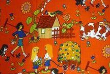 vintage fabrics for kids & vintage kids' rooms