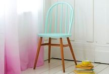 coloured windsor chairs or stick back chairs