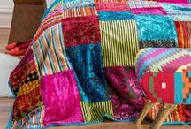retro and vintage fabric patchwork quilt