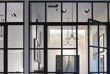 interior glass wall, industrial room devider