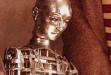 Phantasmagoria / Mannequins, Marionettes, Crash test Dummies, Automotons, Fortune Teller Machines, clock work toys, robots, antique dolls, Santos Cage Dolls,ventriloquists dummy...