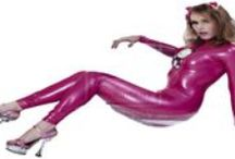 Sexy,tight pink hello kitty catsuit / Sexy,tight pink hello kitty catsuit
