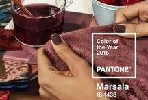 Marsala, Pantone color of the year 2015 / MARSALA  -  PANTONE 18-1438 A naturally robust and earthy wine red, Marsala enriches our minds, bodies and souls.
