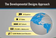 Professional Development - Education / The Developmental Designs (5-9) and Elementary Designs (K-5) approach impacts student achievement most effectively when training is followed by implementation support. Workshops lay the groundwork for the approaches, and are available on or off site.  Support services include professional development tailored to your school or district's needs.