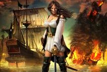 """Pirates / """"Tajtékzó habok ellen indulunk most harcba, zengd a dalt, előre hát, dagadjanak a lobogó vitorlák. Repül a hajónk, messze már, kardunk sem hasztalan talán, lőporos hordó a sarokban áll, raktárunk teli rummal, komám!"""""""