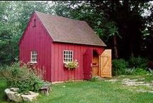 red shed, red cottage