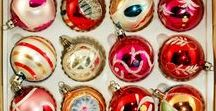 glass balls christmas ornaments retro vintage