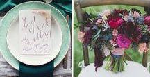 Wedding Board: A + Z / Wedding Board for Amy + Zack's wedding at Har Shalom