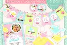 Birds and Birdhouses Party for Girls / Fiesta Pajaritos y Casitas Nena