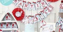 Kit Marineros Náutico Imprimible / Printable Nautical Party Boy / Una fiesta ideal para un baby shower y los primeros años de tu varoncito. Hermosa para hacer al aire libre en cualquier época del año.