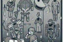 Gamers / Consoles, games, progress, retro and more.  Consolas, videojuegos, avances, retro y más.  コンソール、ゲーム、進歩、レトロ、その他。  遊戲機,遊戲,進步,復古的多。  Consoles, jeux, progrès, rétro / by Gamatec
