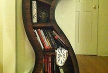 bookshelf & bookmarks