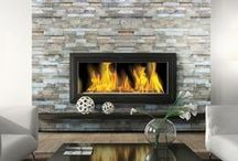 Tile Ideas: Fireplaces / Fabulous fireplaces that look great and keep you cozy.
